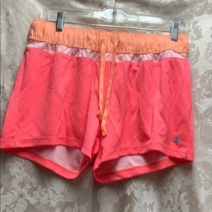 Champion Running shorts Small Orange/Coral